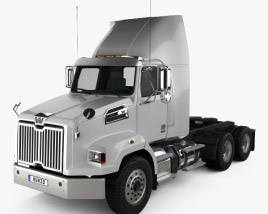 3D model of Western Star 4700 SB Day Cab Tractor Truck 2011