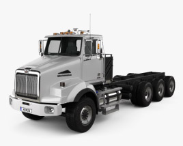 3D model of Western Star 4800 SB Day Cab Chassis Truck 2008