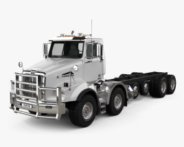 3D model of Western Star 4800 SB TS Day Cab Chassis Truck 2008