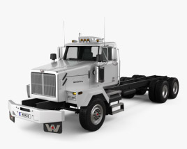 3D model of Western Star 4900 SB Day Cab Chassis Truck 2008