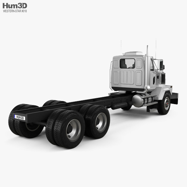Western Star 4900 SB Day Cab Chassis Truck 2008 3D model