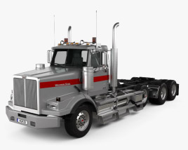 3D model of Western Star 4900 SB Day Cab Tractor Truck 2008