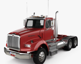 3D model of Western Star 4900 SB SV Day Cab Tractor Truck 2008