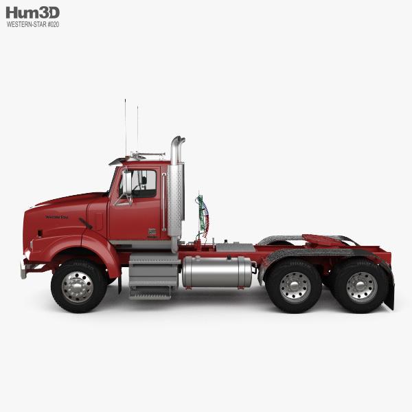Western Star 4900 SB SV Day Cab Tractor Truck 2008 3D model