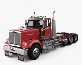 3D model of Western Star 4900 SF Day Cab Tractor Truck 2008