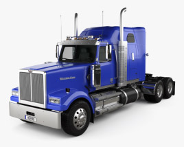 3D model of Western Star 4900 SF Sleeper Cab Tractor Truck 2008