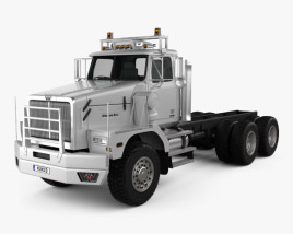 3D model of Western Star 6900 XD Chassis Truck 2008