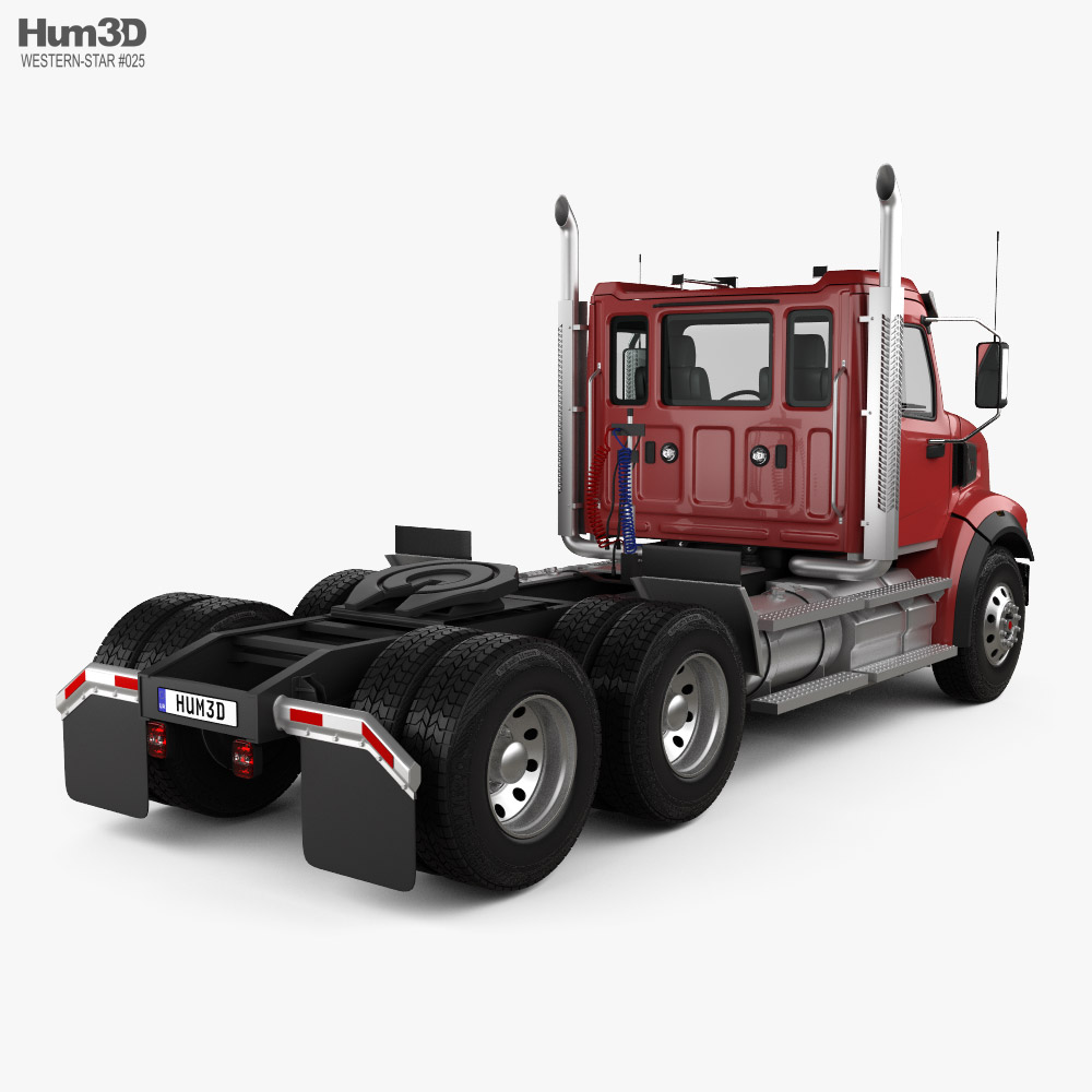 Western Star 49X SB Day Cab Tractor Truck 2020 3d model back view