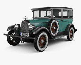 3D model of Whippet Model 96 sedan 1927