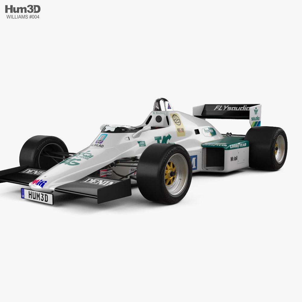 Williams FW08C F1 1983 3D model