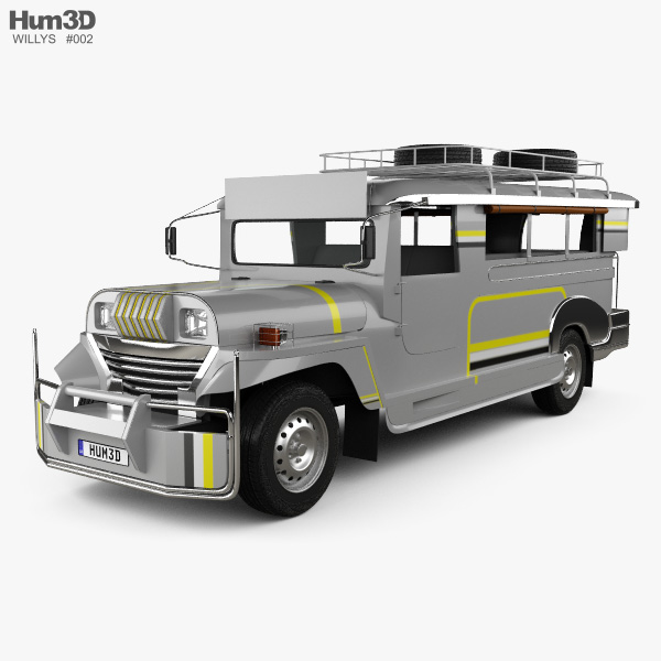 3D model of Willys Jeepney Philippines 2012