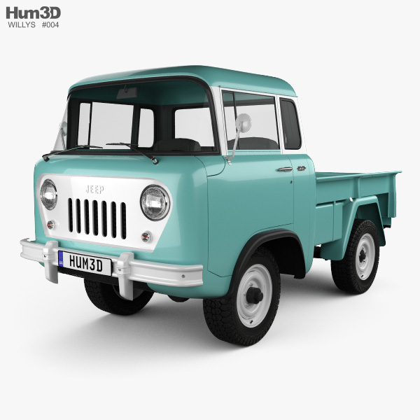 3D model of Willys Jeep FC-150 Forward Control 1957