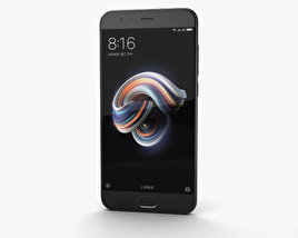3D model of Xiaomi Mi Note 3 Black