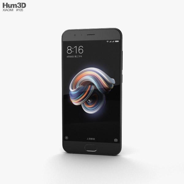 Xiaomi Mi Note 3 Black 3D model