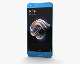 3D model of Xiaomi Mi Note 3 Blue