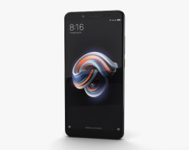 3D model of Xiaomi Redmi Note 5 Pro Black