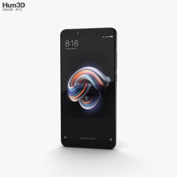 Xiaomi Redmi Note 5 Pro Black 3D model