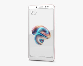 3D model of Xiaomi Redmi Note 5 Pro Rose Gold
