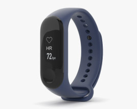 3D model of Xiaomi Mi Band 3 Deep Blue