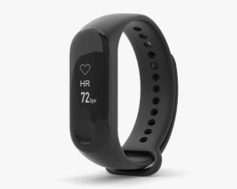 3D model of Xiaomi Mi Band 3 Graphite Black