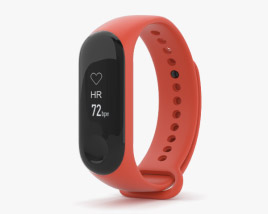 3D model of Xiaomi Mi Band 3 Hot Orange