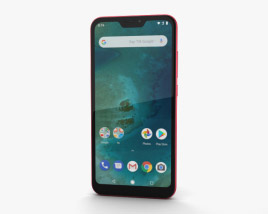 3D model of Xiaomi Mi A2 Lite Red