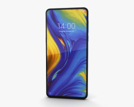 3D model of Xiaomi Mi Mix 3 Sapphire Blue