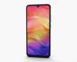 3D model of Xiaomi Redmi Note 7 Blue
