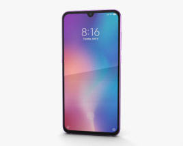 3D model of Xiaomi Mi 9 Lavender Violet