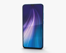 3D model of Xiaomi Redmi Note 8 Neptune Blue