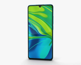 3D model of Xiaomi Mi Note 10 Aurora Green