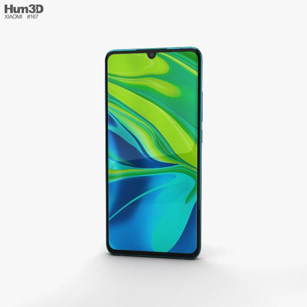 Xiaomi Mi Note 10 Aurora Green 3D model