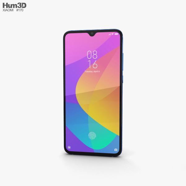 Xiaomi Mi 9 Lite Aurora Blue 3D model