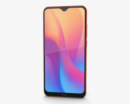 3D model of Xiaomi Redmi 8a Sunset Red