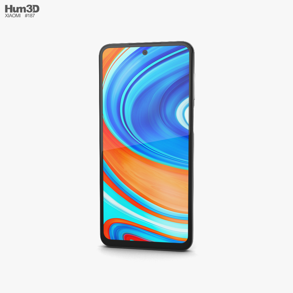 Xiaomi Redmi Note 9 Pro Glacier White 3D model