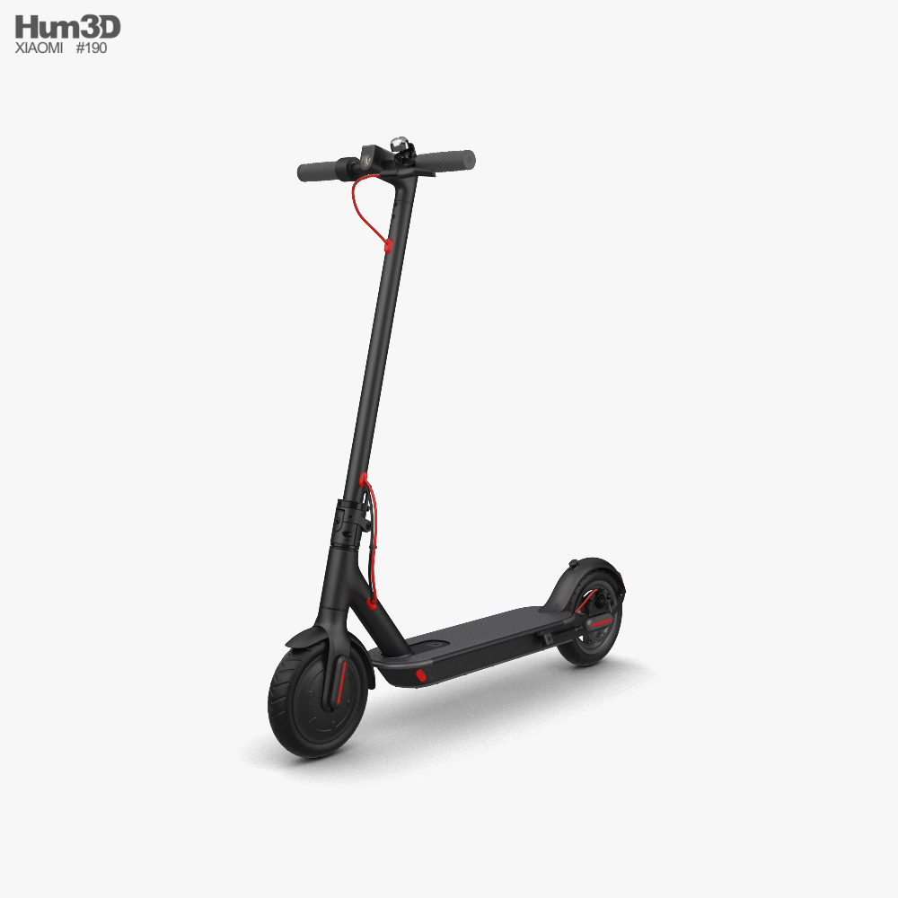 3D model of Xiaomi Mi Folding Electric Scooter M365