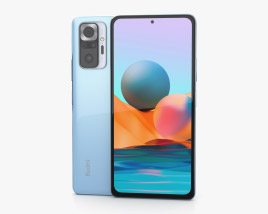 Xiaomi Redmi Note 10 Pro Glacier Blue 3D model