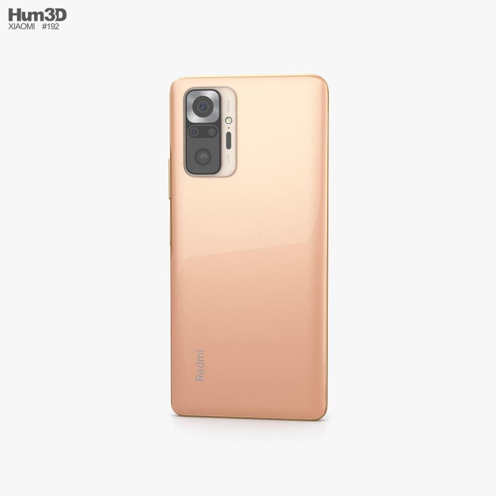 Xiaomi Redmi Note 10 Pro Gradient Bronze 3d model