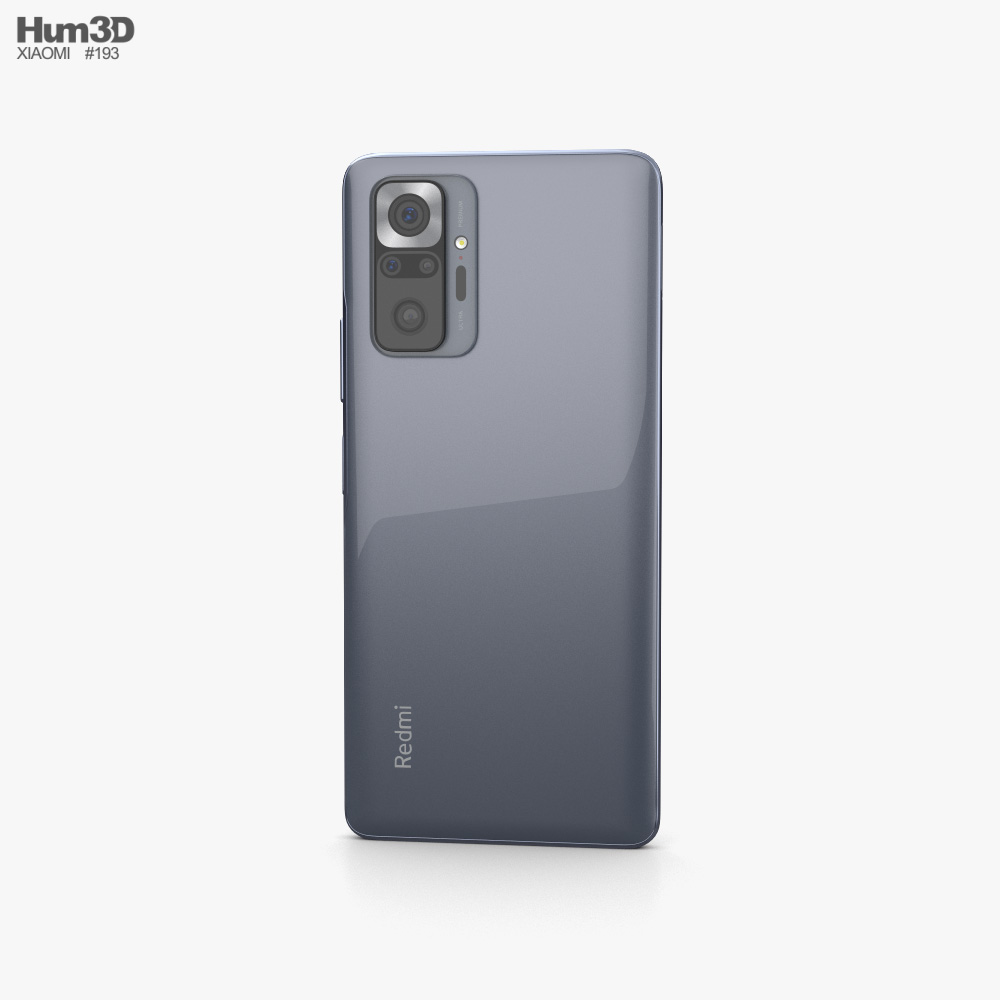 Xiaomi Redmi Note 10 Pro Onyx Gray 3d model