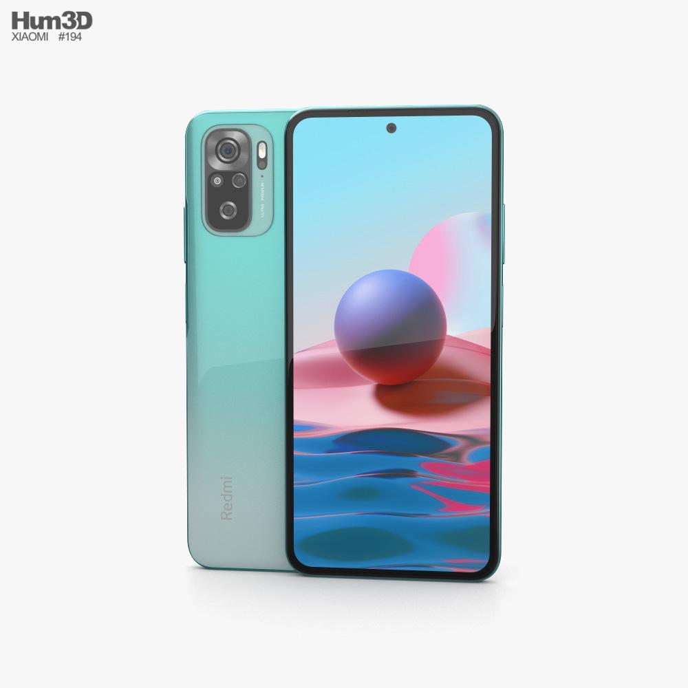 Xiaomi Redmi Note 10 Aqua Green 3D model