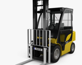 3D model of Yale GDP 35VX Forklift 2012