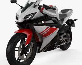 3D model of Yamaha YZF-R125 2008