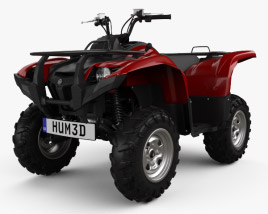 3D model of Yamaha Grizzly 700 2013