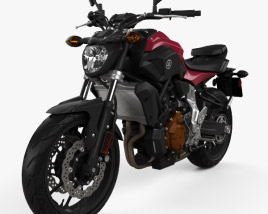 3D model of Yamaha MT-07 2015
