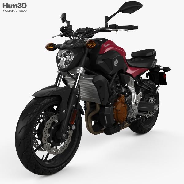 Yamaha MT-07 2015 3D model