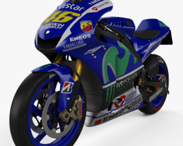 3D model of Yamaha YZR-M1 MotoGP 2015
