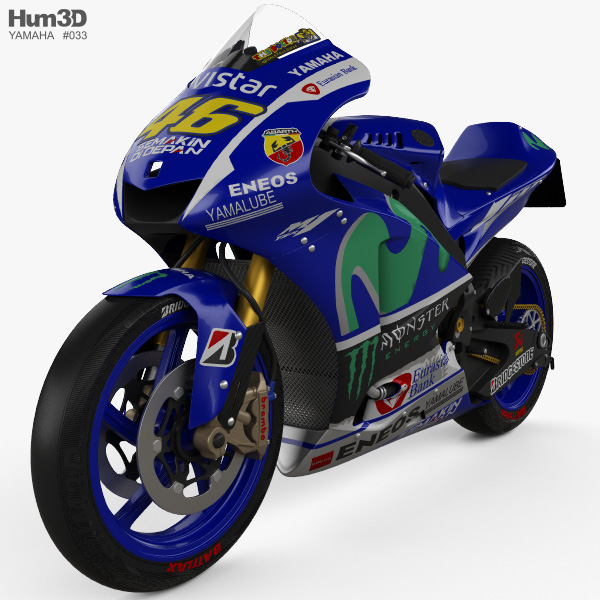 Yamaha YZR-M1 MotoGP 2015 3D model