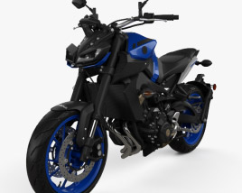 3D model of Yamaha MT-09 2017