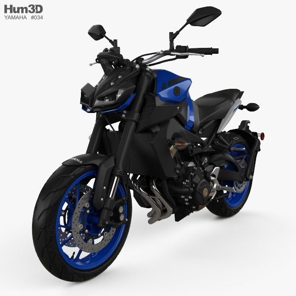 Yamaha MT-09 2017 3D model