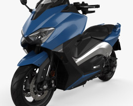 3D model of Yamaha TMAX 2017